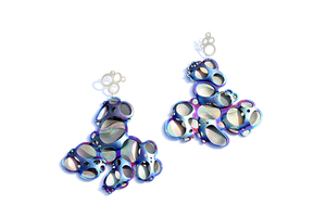 Self Proliferating Patterns: Bubble Earrings, 2012