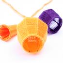 Bells and Baskets: Yellowpurple Neckpiece, 2013