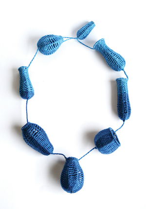 Bells and Baskets: Blue Neckpiece, 2013